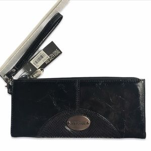 Kenneth Cole Black Patent Leather Wristlet